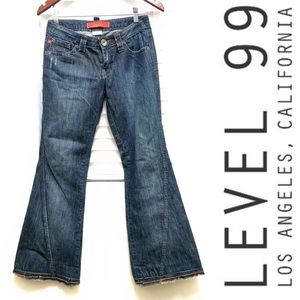 Level 99 Twisted Wide-leg Jeans Size 25